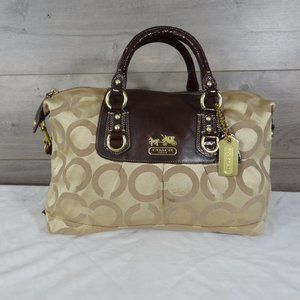 Coach 12943 Madison Sabrina Op Art Satchel Bag